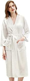 Runyue Unisex Soft Towelling Bath Robe Dressing Gowns Bathrobe Housecoat Nightwear with Pockets and Belt for Spa Hotel Pool