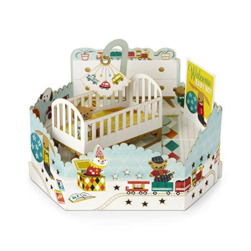 Paper Wonder Pop Up Baby Card by Hallmark 'Boys Nursery' - Medium
