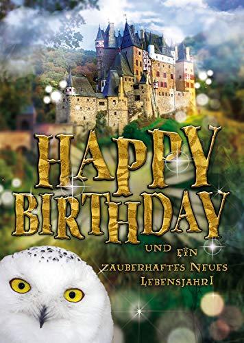 """bentino Geburtstagskarte XL mit Musik, Licht und BERÜHR-Funktion, per Knopfdruck den Zauberstab zum Leuchten bringen, DIN A4 Set mit Umschlag, Glückwunschkarte """"Great Cards"""" von bentino"""