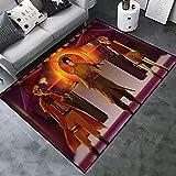 Amacigana Anime Naruto Uzumaki Kakashi Hatake Alfombra antideslizante resistente a las manchas ultrasuave bienvenida alfombra de suelo decoración (A02,100 cm x 160 cm x 1,2 cm)