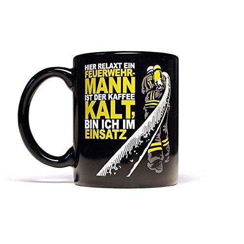 Ist der Kaffee kalt bin ich im Einsatz - Feuerwehrmann Kaffeebecher 300 ml