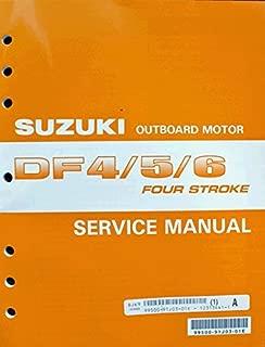 Suzuki Outboard (99500-91J03-01E Genuine OEM Service Manual 4-Stroke 4-5-6 hp. 2002 Thru 2005