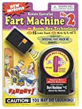 Remote Controlled Fart Machine No. 2, blows our original fart machine away New boom box technology features 15 louder sounds and works up to 100 feet away Caution: You may die laughing Uses 9-volt battery, not included with item Distributed by Forum,...