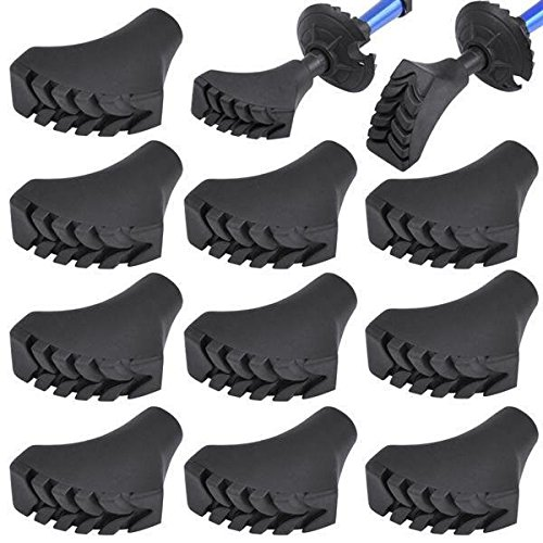 Yaheetech 5 Paar Ersatzfüße Gummipuffer für Trekking Stöcke