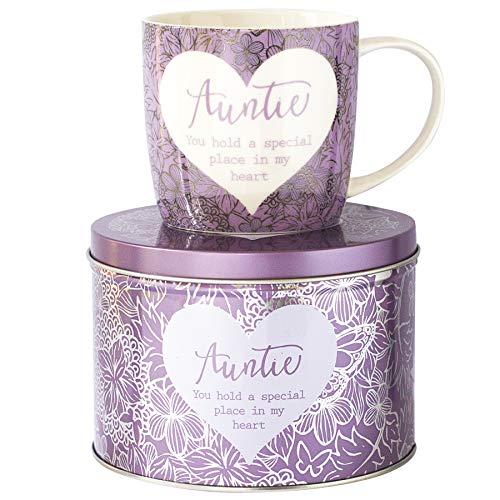 Arora 7050 Said with Sentiment Mug & Tin - Auntie, Ceramic