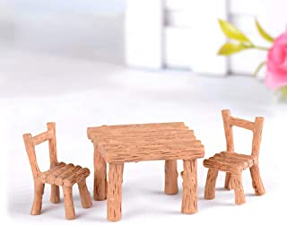 yanQxIzbiu Garden Resin Decor, 3Pcs/Set Resin Table Chairs Miniatures Doll Accessories Micro Landscape Decor- Best Indoor Outdoor Decorations for Patio Yard Office and House