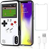 Gameboy Hülle for iPhone X/XS,Handheld Retro 36 Classic Games,Color Video Bildschirm Game Hülle for iPhone,Anti-Scratch Shockproof Phone Cover for iPhone WeLohas