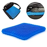 LEODUO Gel Seat Cushion, Egg Seat Cushion Chair Pads with Non-Slip Cover for Home Office Car Wheelchair, Breathable Honeycomb Design Help Relieve Pain