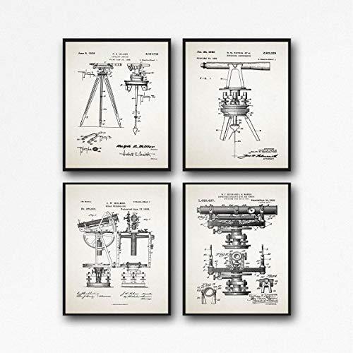 Poster da edilizia con stampa da geometri e geometri per la costruzione di poster di costruzione da parete per edifici di transito e geometri WB228-WB237 (11,7 x 16,5 (A3), avorio)