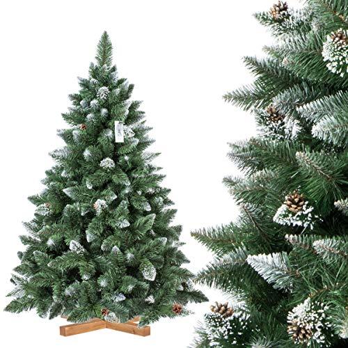 FairyTrees Árbol de Navidad Artificial, Pino Verde Natural