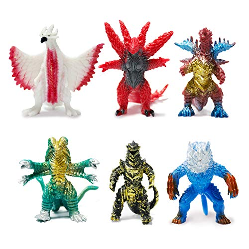 [6 Pack] Ultraman Monsters Toys,[3 inch] Ultraman Monsters Action Figures with [Cutlery Grade pc Material][Realistic Model][Home and Office]