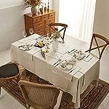 DAPU Tischläufer Leinen, Abwaschbare Tisch Läufer aus reinenm Leinen 40×140cm, Moderne Einfarbige Tischdecke Leinenoptik für Essentisch Hochzeit Party Beige - 7