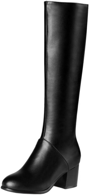 AicciAizzi Women Fashion Knee High Riding Boots with Zipper