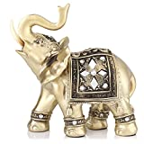 Jadeshay Elephant Statue - Elephant Ornament Sculpture Wealth Figurine Home Office Decor Gift (1415)
