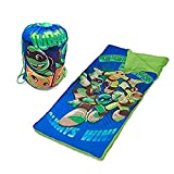"Nickelodeon Teenage Mutant Ninja Turtles Sling Bag and Cozy Lightweight Sleeping Bag, 46"" L x..."