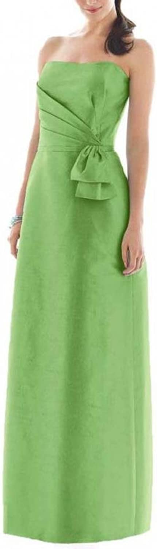 Dearta Women's Sheath Column Strapless FloorLength Taffeta Bridesmaid Dresses