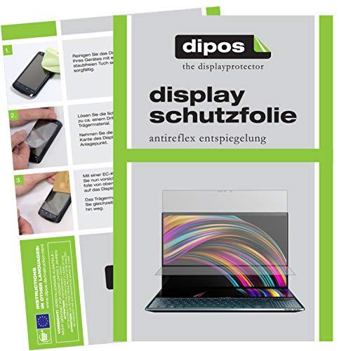 dipos I 2X Schutzfolie matt kompatibel mit Asus ZenBook Pro Duo Folie Bildschirmschutzfolie