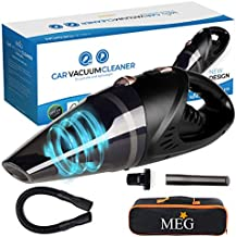 Car MEG Handheld Vacuum Cleaner Cordless, Rechargeable,106W Lithium Battery, Small&Lightweight, Vacuum Cleaner, Strong Aluminum Fan, Powerful Portable Vacuum & 2 Adapter Charging Cables