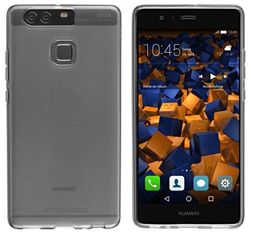Mumbi - Funda para Huawei P9, color negro translúcido