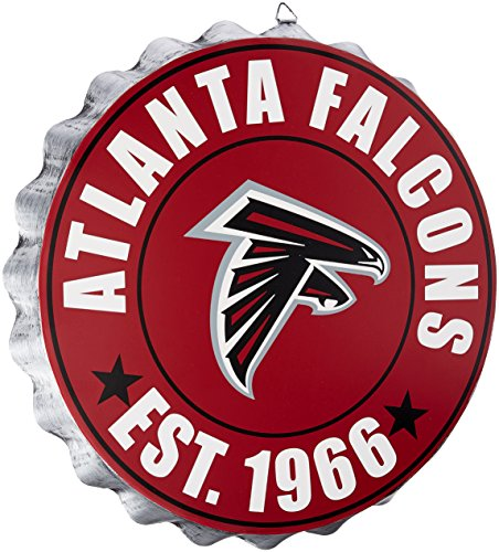 Atlanta Falcons NFL Bottle Cap Wall Sign