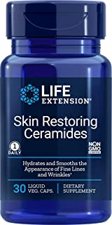 Life Extension Skin Restoring Ceramides, 30 Liquid Vegetarian Capsules (Packaging may vary)
