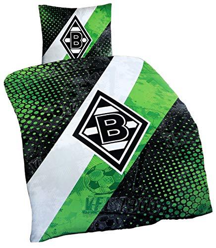 Borussia Mönchengladbach Bettwäsche 'Schrägstreifen'