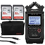 Zoom H4n Pro 4-Input / 4-Track Portable Handy Recorder with Onboard X/Y Mic Capsule (Black) + 2x 32GB Memory Card + Accessory Pack-8' + Stereo Mini Male Cable