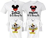 Birthday Boy/Girl Mickey and Minnie Custom Family Customized Shirts Black