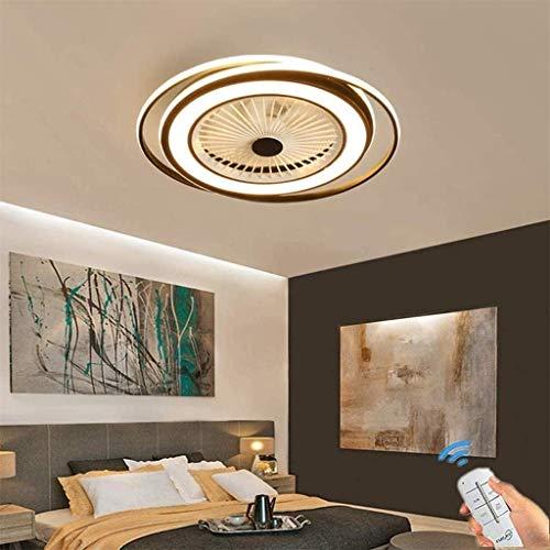 LED Plafondventilator Met Verlichting En Afstandsbediening Stille 60W Plafondlamp Dimbaar Met Afstandsbediening 3 Standen Verstelbaar Moderne Slaapkamer Onzichtbare Kinderkamer Ventilator