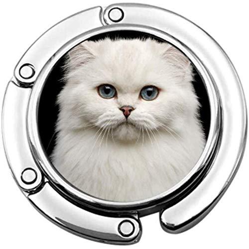 portemonnee haak portret Brits ras kat zuiver wit vouwen handtas tafel Hanger-Bag Hanger Collection-Bureau haken
