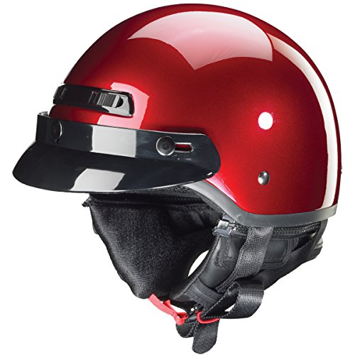 ZOX Unisex Adult Banos STG Gloss Candy Red Half Helmet Z88-11052