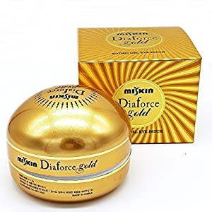 Gold Rearar Dia Force Hydro-Gel Eye Patches Beauty & Nuri Treatments Masks-60 Sheets by Rearar Diaforce Miskin
