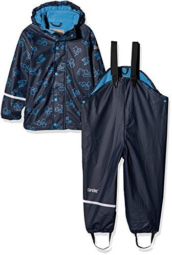 CareTec Kinder wasserdichte Regenlatzhose und -jacke im Set (verschiedene Farben), Blau (Dark Navy 778), 86