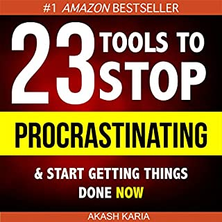 Ready, Set...PROCRASTINATE!      23 Anti-Procrastination Tools Designed to Help You Stop Putting Things off and Start Getting Things Done              By:                                                                                                                                 Akash Karia                               Narrated by:                                                                                                                                 Matt Stone                      Length: 1 hr and 58 mins     230 ratings     Overall 4.2