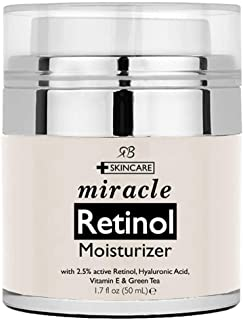 Radha Beauty Retinol Moisturizer cream for Face - with Retinol, Hyaluronic Acid, Vitamin E and Green Tea. Best Night and D...