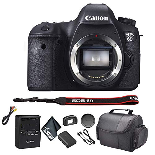 Canon eos 6d dslr camera bundle kit with carrying case + more -international model
