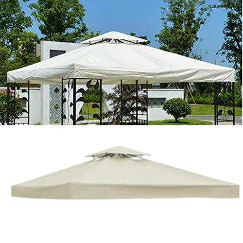 StageOnline Replacement Gazebo Canopy, Top Patio Pavilion Cover Sunshade Polyester Single/Double Tier Heavy Duty Durable Waterproof Shelter for Outdoor Wedding Party Event - Beige