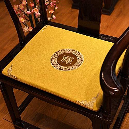 Mirui Chinese Rosewood Chair Sofa Cushion Tatami Floor Cushion Thicken Non Slip Chair Cushion Window Seat Pad Soft Futon Seat Cushion (Color : E, Size : 50x50cm(20x20inch))