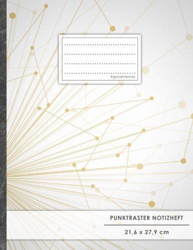 "Punktraster Notizbuch • A4-Format, 100+ Seiten, Soft Cover, Register, ""Science"" • Original #GoodMemos Dot Grid Notebook • Perfekt als Skizzenbuch, Tagebuch, Handlettering Übungsbuch"