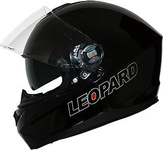 Leopard LEO-813 Casque Moto Int/égral pour Scooter Chopper Casque de Moto Homme et Femme Demi-Jet ECE Homologu/é Visi/ère suppl/émentaire en Miroir #4 Orange//Noir//Argent M 57-58cm