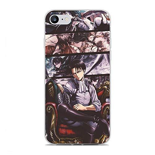 X-Art Clear Case for Apple iPhone 7/8/SE 2020, Anime-Attack on-Titan 3 Transparent Fundas Slim Silicone Liquid Flexible Case Cover