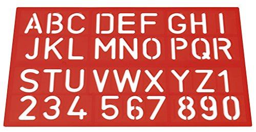 Westcott E-10600 00 - Plantillas de escritura, letras y números