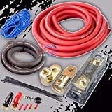 0 Gauge AWG 100% OFC Copper Power Amp Amplifier Wiring Install Kit 4000 Watts