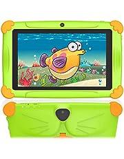 Tablet per Bambini 7 Pollici 2 a 12 Anni Android 10.0 WIFI GMS 32GB di ROM 3GB RAM, Supporto 128 GB Espandibile Doppia Fotocamera Educazione Preinstallato Iwawa Google Apps I regali- Verde