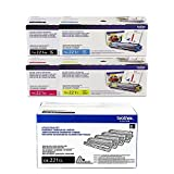 Brother TN221 4-Color Standard Yield Toner Cartridge and DR221CL Replacement Drum Unit Set