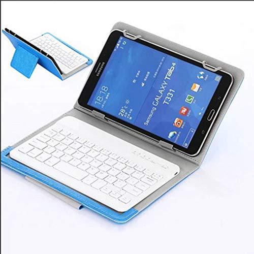 HJSMZ Tragbare Tablet-Tastatur Spiel, Mini wiederaufladbare Tastatur, Leicht und schlank, Einfaches Aussehen, Komfortable Berührung, Kompatibel mit Windows, iOS und Android,Blau