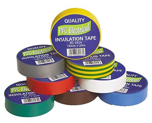 Qualité PVC Isolation Électrique Bande Couleur Noir 19 mm x 33 m BS3924 IEC 454-2