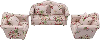 NLGToy 1:12 Mini Dollhouse Furniture Sofa Set Miniature Living Room,Perfect Dollhouse Accessory,Kids Pretend Play Toy,Grea...