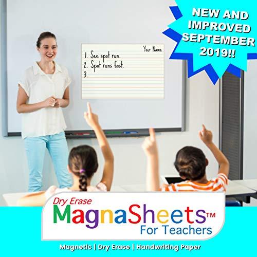 MagnaSheets (TM) para profesores, borrado en seco, papel de escritura magnético para aulas