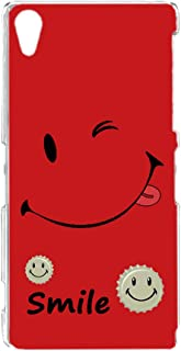 [FFANY] Xperia Z2 SO-03F 用 スマホケース ハードケース [smile・レッド] ウインク キャップロゴ スマイル ニコちゃん柄 SONY ソニー エクスペリア ゼットツー docomo すまほカバー 携帯ケース 携帯カ...